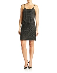 J Kara Beaded Popover Dress Black Mercury