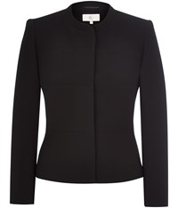 Cc Mandarin Collar Panel Jacket Black