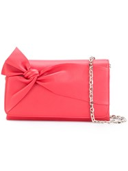 Casadei Bow Shoulder Bag Women Calf Leather Satin One Size Red