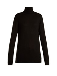 Raey Roll Neck Fine Knit Cashmere Sweater Black