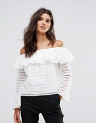 Supertrash Bamira Off Shoulder Top Off White