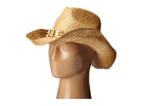 San Diego Hat Company Rhc1078 Raffia Cowboy Hat With Beaded Band Natural Caps Beige