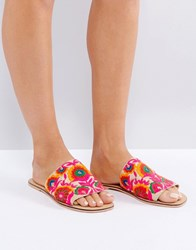 Asos Fort Embroidered Mules Multi