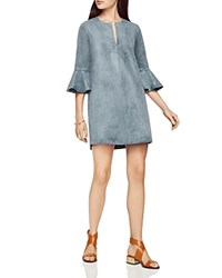 Bcbgmaxazria Faux Suede Mini Dress Light Ash Blue