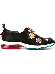 Fendi Flower Applique Sneakers Black