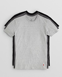 Polo Ralph Lauren 3 Pack Crewneck Tee Grey Charcoal Black
