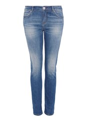 Hallhuber Cropped Jeans Blue