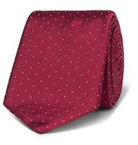 Paul Smith 6Cm Pin Dot Silk Twill Tie Red