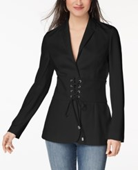 Xoxo Juniors' Corset Blazer Black