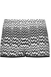 Missoni Crochet Knit Shorts Black