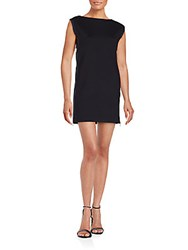French Connection Lula Stretch Zippered Shift Dress Black