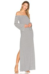 Animale Side Slit Maxi Dress Blue