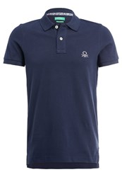 United Colors Of Benetton Polo Shirt Navy Dark Blue