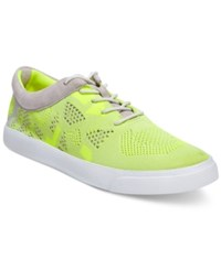 Clarks Somerset Women's Glove Glitter Knit Sneakers Women's Shoes Yellow Neon
