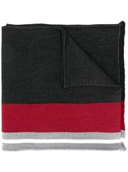 Ermenegildo Zegna Colour Block Scarf Black