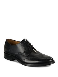 Cole Haan Leather Wingtip Oxfords Black