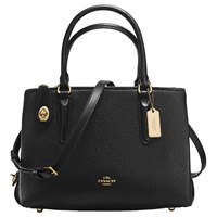 Coach Brooklyn 28 Leather Carryall Tote Bag Black