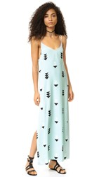 Wildfox Couture Arrow Button Side Dress Oasis Blue