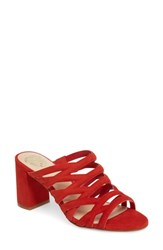 Vince Camuto Raveana Cage Mule Red Hot Rio Suede