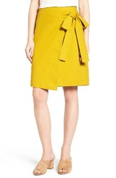 Halogenr Women's Halogen Tie Front Skirt Olive Palm