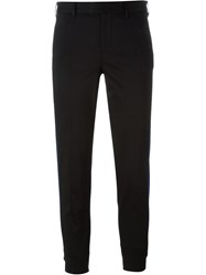 Pt01 Side Stripe Chino Trousers Black