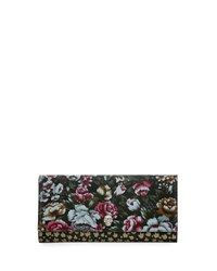 Alexander Mcqueen Floral Print Leather Continental Wallet Multi