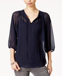 Maison Jules Sheer Polka Dot Top Only At Macy's Blu Notte Combo