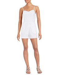 Guess Eyelet Romper White