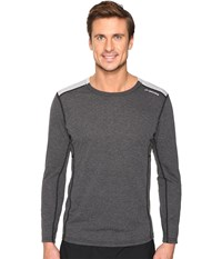 Brooks Distance Long Sleeve Shirt Heather Black Heather Sterling Men's Long Sleeve Pullover