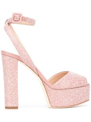 Giuseppe Zanotti Design Betty Platform Sandas Pink Purple