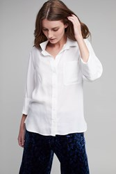 Cloth And Stone Aimee High Low Shirt White