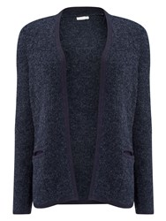 Eastex Navy Boucle Cardigan Navy