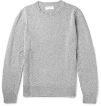 Officine Generale Marled Merino Wool And Cashmere Blend Sweater Gray