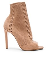 Gianvito Rossi Knit Booties In Neutrals