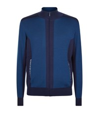 Zilli Knitted Zip Up Sweater Blue