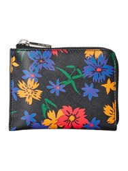 Paul Smith London Floral Multicolour Small Coin Purse Multi Coloured Multi Coloured