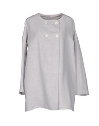 Rossopuro Coats And Jackets Full Length Jackets Women Light Grey