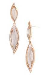Kendra Scott Women's Maisey Drop Earrings Gold Dusted Glass Rose Gold