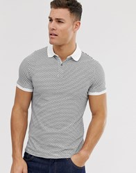Selected Homme Contrast Collar Polo With Pocket In White