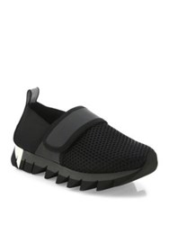 Dolce And Gabbana Mesh Velcro Sneakers Black