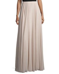 Halston Flowy Gathered Maxi Skirt Beige