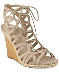 Indigo Rd. Holiday Strappy Wedge Sandals Women's Shoes Natural