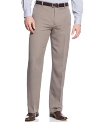 Kenneth Cole Reaction Straight Fit Vertical Texture Pants Grey