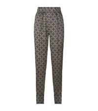 Sandro Dany Printed Trousers Female Brown