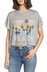 Project Social T South Beach Boxy Crop Tee Heather Grey