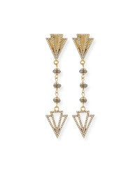 Lulu Frost Granada Crystal Drop Earrings Gold
