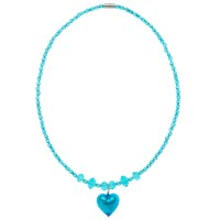 Martick Faceted Crystal Bead And Murano Glass Pendant Necklace Turquoise