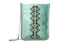 Leather Rock Leatherock Cell Pouch Crossbody Turquoise Amber Bags Green