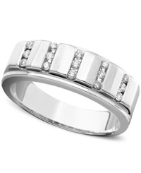 Macy's Men's Diamond Ring In 14K White Gold 1 4 Ct. T.W.