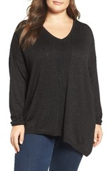 Nydj Plus Size Women's Shimmer Asymmetrical Sweater